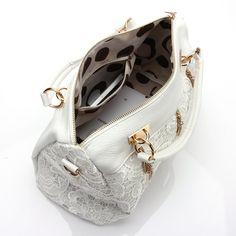 cefafd450fa3 ANDI ROSE Women Designer PU Leather Tote Handbags Purses Shoulder Clutch  Hobo Bag (White)