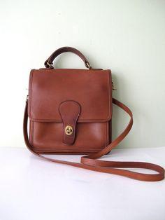 Vintage Coach Station Bag In British Tan 5130 By Magnoliavintageco