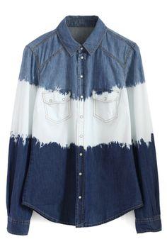 Dip Dyed Denim Shirt
