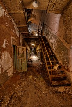 Eastern State Penitentiary the coolest haunted tour iv been on Abandoned Prisons, Old Abandoned Buildings, Abandoned Property, Old Buildings, Abandoned Places, Scary Places, Haunted Places, Places To Visit, Eastern State Penitentiary