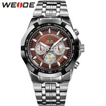 Men Sport Watches WEIDE Brand Men's Quartz Watch Relogio Masculino Military Diver Full Steel Fashion Casual Army Wristwatches(China (Mainland))