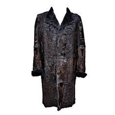 Tom Ford for Gucci men s persian lamb and mink fur coat  29276b8a2