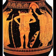 THE ARMING OF HECTOR Hector arms for battle in the presence of Priam and Hekabê. Athenian red-figure water-jug, c. Ancient Greek Art, Ancient Greece, Greek History, Ancient History, Homer Iliad, Greek Pottery, Greek Culture, Minoan, Vases