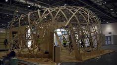 Ongreening Pavilion. Plywood.