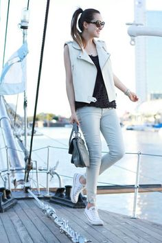 bb08bd12b1ab8 Jeans  7 for all Mankind   Leather Vest  H trend   Sunnies  Prada   Bag   Rebecca Minkoff   Shoes  Converse mar