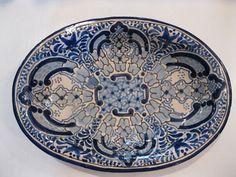Mexican folk art pottery uriarte bowl birds.