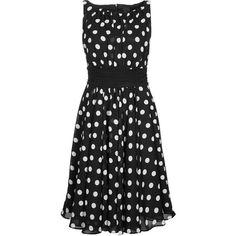 Swing Cocktailkleid festliches Kleid black/white ($180) ❤ liked on Polyvore