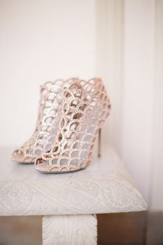 Sergio Rossi Mermaid Booties bridal shoes. Photo by Jeremy Harwell