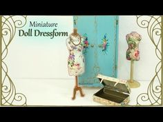 Miniature Vintage Wardrobe - Dollhouse Tutorial - YouTube