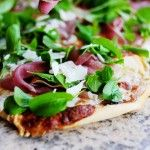 Fig Prosciutto Pizza with Arugula - this pizza is a hit everytime I make it. DELISH. Fig Jam - Sobeys is the best. Sometimes use pizza crust from Costo,  i crave it!....AIMEE