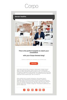 Cardeo minimal html email template template we looked at customers favorite wordpress themes and designed seven stunning wordpress inspired email templates heres our new corpo email template spiritdancerdesigns Gallery