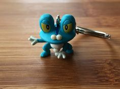 Froakie Pokemon Keychain, Froakie Keychain, Kids Keychain, Backpack Keychain, Pokemon Keychain, Pokemon Keyring, Pokemon Accessories
