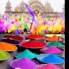Would love to go to India during Holi. A holiday where people throw brightly colored perfume powder on themselves and others in celebration of Spring.