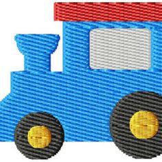 Train Mini Machine Embroidery Design