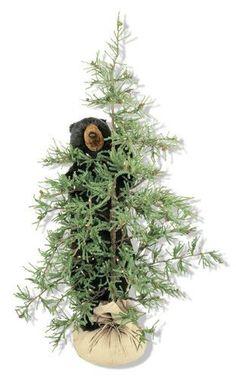 """Tahoe Pine Tree Black Bear Display 72"""""""