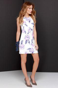 Life Rose On Ivory Floral Print Dress at Lulus.com!