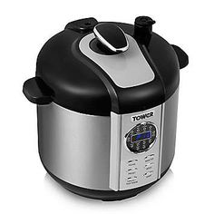 This great digital pressure cooker has multiple functions including steamer, rice cooker, sauté, stew, pressure cooker etc. It also features a 24 hour keep warm function and a digital timer. With a non-stick pot, LED display with indicator lights and 5 litre capacity. Tower Pressure Cooker Features:  Stainless steel body  Digital timer  24 hour keep warm function  Non-stick pot  8 safety protection devices  LED display with indicator lights  Cool touch handles  Hand wash  5 litre capacity
