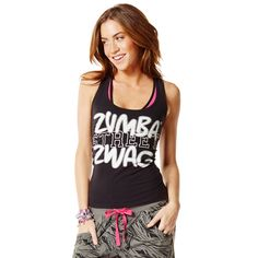 Zumba Fitness Street Zwag Racerback Tank Top - Sew Black - FUNKtional Wearables