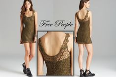 Available in size Small & XSmall http://www.ebay.com/itm/Free-People-Olive-Green-Foiled-Again-Stretch-Lace-Body-Con-Dress-Size-Small-/251706758548