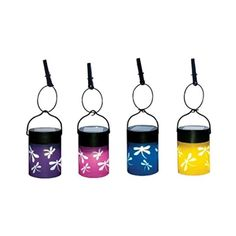 Fiesta Hanging Umbrella Lanterns (Set of 4)