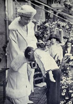 Queen Mary, who was betrothed to Prince Albert Victor, Duke of Clarence and Avondale, but married George.