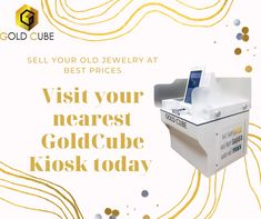 Sell your old jewelry easily at best market prices and get instant cash. Visit kiosk.goldcube.com to find your nearest GoldCube Kiosk. #sellgold #selljewellry #instantcash Sell Your Gold, Sell Gold, Id Scanner, Regulatory Affairs, Buy Gold And Silver, Instant Cash, Market Price, Old Jewelry, Kiosk