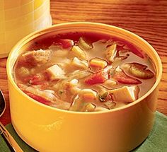 Easy chicken vegetable soup...perfect for a healthy fall meal.