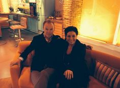 Gary Kemp and Jessie Wallace on the set of ITV Daybreak.