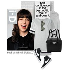 Back to School: Confidence by chebear on Polyvore featuring moda, MSGM, Étoile Isabel Marant, NIKE, Mulberry, Ray-Ban, BackToSchool, backpack, nike and chebear