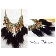 Colorful handmade statement necklace