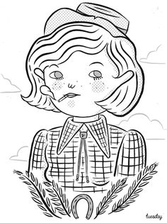 Tuesday Bassen Illustration — The Smoking Cowgirl