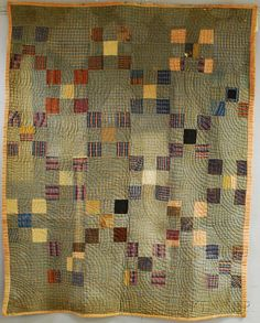 """Pieced Wool """"Nine Patch"""" Linsey-woolsey Quilt, America, century Primitive Quilts, Amish Quilts, Scrappy Quilts, Vintage Quilts Patterns, Antique Quilts, Quilt Patterns, Big Block Quilts, Small Quilts, Quilt Blocks"""