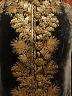 France, gold embroidery on high-ranking French officer's uniform, 19th c.