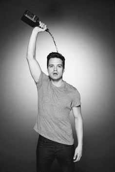 Sebastian Stan and scotch - Lovely, but why waste alcohol!