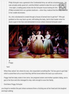 Literally the only thing Peggy ever did. Just because the musical didn't include Peggy for very long, you do NOT get to shame her for not being involved in the Hamilton love triangle with her sisters Aaron Burr, Theatre Nerds, Musical Theatre, Theater, Hamilton Lin Manuel Miranda, Hamilton Peggy, Def Not, Hamilton Musical, Alexander Hamilton