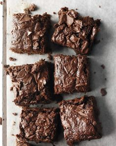 Whole-Wheat Brownies - Looks like a semi-healthy brownie recipe using some whole wheat flour and applesauce.