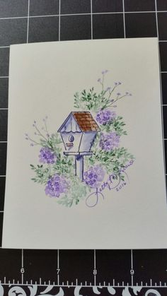 My Art Impressions Watercolor Stamping - Bridhouse #2 created by Letty Lucero.