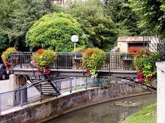 flower boxes Atech - bridge deocr Flower Boxes, Flowers, Urban Furniture, Go Green, Malaga, Garden Bridge, Outdoor Structures, City, Poland