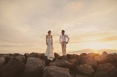 Photographer Feature: Tropical Maui destination wedding by Kate Harrison - Wedding Party