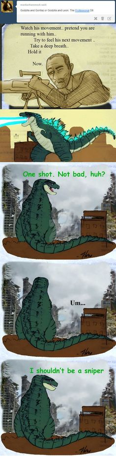 Godzilla vs Smaug? that's the battle of the year! you could sell tickets to that shit! (i hope nobody out there is getting turned on by that last panel) this is part of that Kaiju Ask Blog thing th...