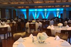 Table and light set-up in the great hall