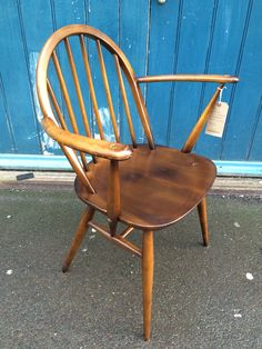 1950's Ercol Windsor Carver Chair by EraBrighton on Etsy https://www.etsy.com/listing/219266073/1950s-ercol-windsor-carver-chair