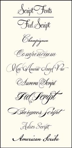 Tattoo fonts, script, cursive, tattoo ideas