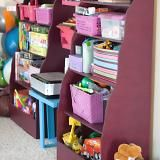 DIY Bankers Bookcase - I think this is an ideal shelf for a kid room or play room