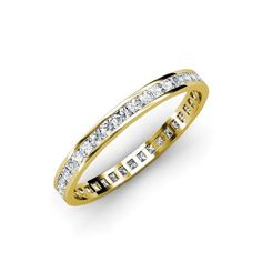 Diamond Princess Cut Eternity Band (SI2-I1, H-I) 1.54 ct tw to 1.82 ct tw in 14K Yellow Gold.size 9.0 >>> Continue to the product at the image link.