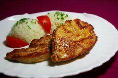 Napácované rezne Czech Recipes, Russian Recipes, Poultry, Ham, Chicken Recipes, French Toast, Pork, Food And Drink, Menu