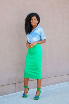 Love the color combo and those bad-ass green shoes.