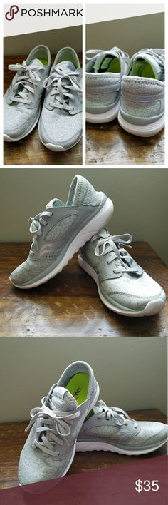 Saucony Light Gray Lightweight Athletic Shoe Saucony Light Gray Lightweight Athletic Shoe in EUC with no flaws. Worn only twice to the gym, have inserts  and these could not accommodate them, my loss your gain. Price is firm unless bundled. Size 8 EUR 39 Saucony Shoes Athletic Shoes