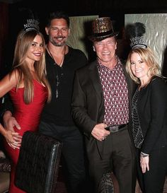 Sofia Vergara, Joe Manganiello, Arnold Schwarzenegger and Patrick Schwarzenegger Ring in the New Year at Planet Hollywood in Las Vegas on Dec 31, 2014 (Photo credit: Gabe Ginsberg)