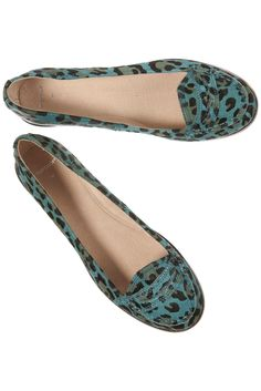 leopard + turquoise